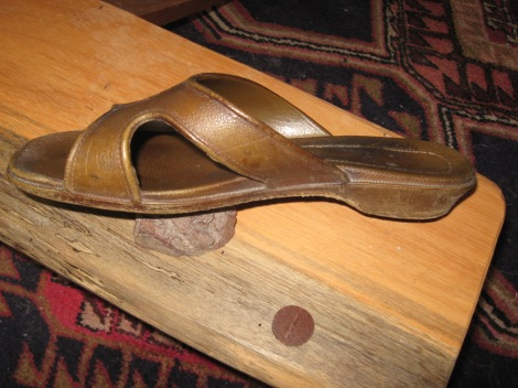 injection molded sandal circa 1970's